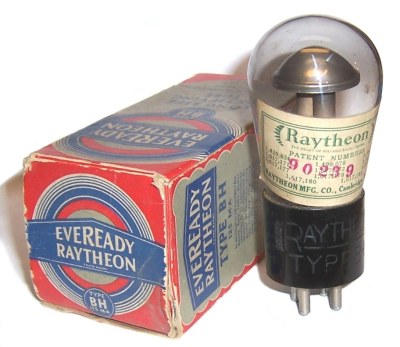 Eveready Raytheon type BH tube and box