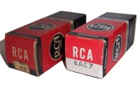 RCA early red Tube Boxes